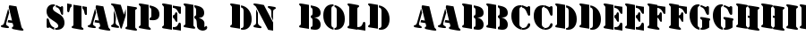 A Stamper Dn Bold Шрифт