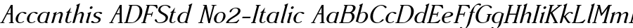 Accanthis ADFStd No2-Italic Шрифт