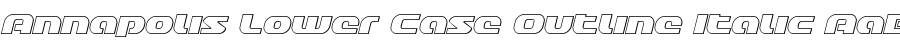 Annapolis Lower Case Outline Italic Шрифт