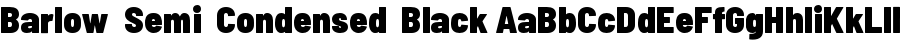 Barlow  Semi  Condensed  Black Шрифт