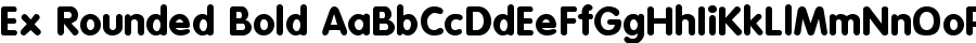 Ex Rounded Bold Шрифт