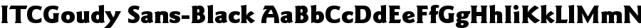 ITCGoudy Sans-Black Шрифт