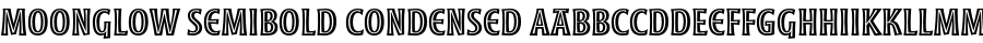 Moonglow Semibold Condensed Шрифт