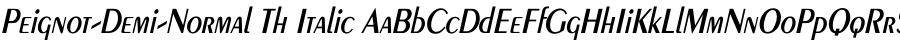 Peignot-Demi-Normal Th Italic Шрифт