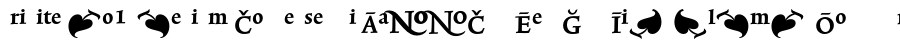 Trinite No1-Medium Condensed Pi Шрифт